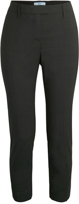 Prada Lana Virgin Wool Zip-Back Pants