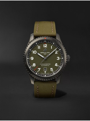 Breitling Aviator 8 Curtiss Warhawk Automatic 41mm Stainless Steel And Canvas Watch, Ref. No. M173152a1l1x1