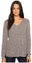 Michael Stars Cotton Knit Long Sleeve V-Neck Pullover Women's Clothing
