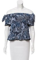 Timo Weiland Silk Off-The-Shoulder Top w/ Tags