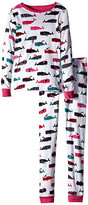 Hatley Scarf Whales PJ Set (Toddler/Little Kids/Big Kids)