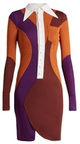 Givenchy Contrast-collar jersey mini dress
