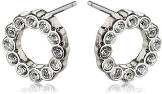 Pilgrim Earrings : Malin : Silver Plated : Crystal