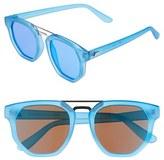 Le Specs Women's 'Thunderdome' 52Mm Polarized Sunglasses - Black/ Gold