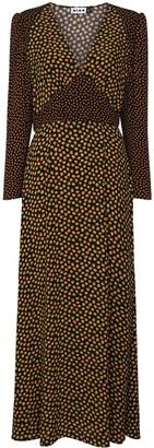 Rixo Cordelia mix-print midi dress