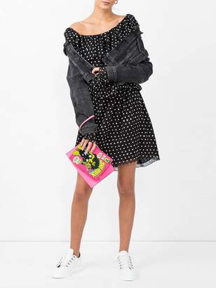 Saint Laurent polka-dot one shoulder dress