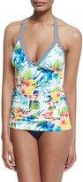 Tommy Bahama Floral-Print Halter Tankini Swim Top