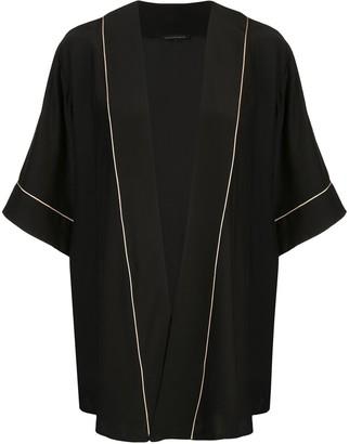 Kiki de Montparnasse Contrast Piped Robe Jacket