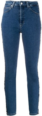 Calvin Klein Jeans logo mid-waist jeans