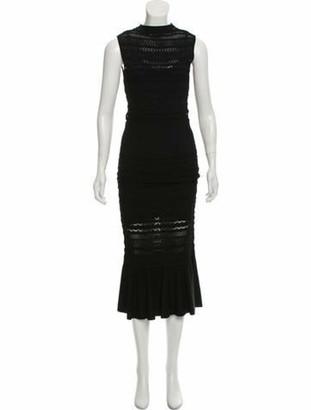 Alexis Sleeveless Embroidered Maxi Dress Black