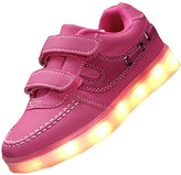 Topteck Kid Boy Girl USB Charging LED Light Up Sport Running Shoes Flashing Athletic Sneakers