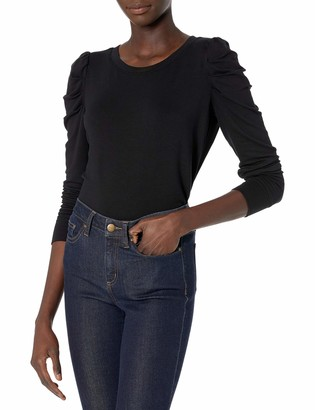 Daily Ritual Women's Standard Supersoft Terry Pleated-Sleeve Sweatshirt