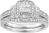 Stella Grace 10k White Gold 1/3 Carat T.W. Diamond Engagement Ring Set