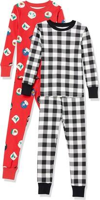 Amazon Essentials Kids Boys Snug-Fit Cotton Pajamas Sleepwear Sets