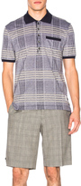 Thom Browne Oversize Check Pique Polo