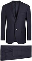 Corneliani Blue Wool Jacquard Suit