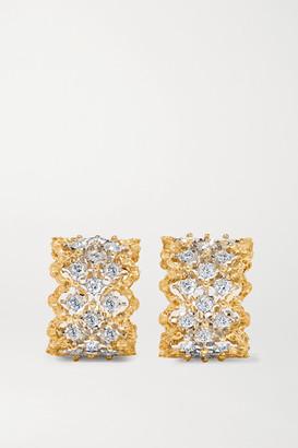 Buccellati Rombi 18-karat Yellow And White Gold Diamond Earrings