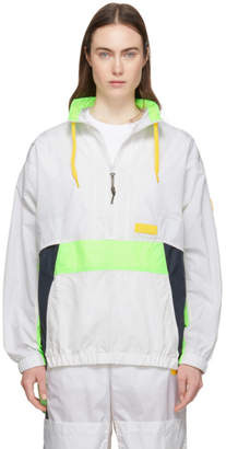 Perks And Mini White and Navy Time Folds Track Pullover Jacket