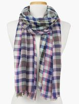 Talbots Checked Wool Scarf