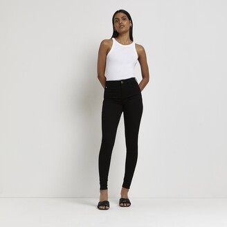 River Island Womens Black Molly mid rise jeggings
