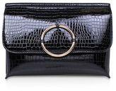 Miss KG **hoop black clutch handbag