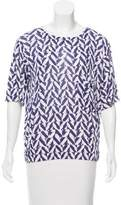 Giorgio Armani Geometric Print Short Sleeve Top