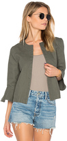 Leo & Sage Ruffle Sleeve Jacket in Sage. - size L (also in )