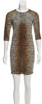 Dolce & Gabbana Cheetah Print Wool Dress