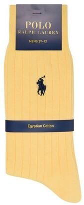 Polo Ralph Lauren Logo Ribbed Socks
