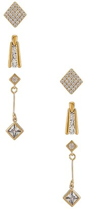 Vanessa Mooney The Deco Diamond Earring Set