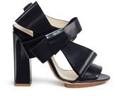 DELPOZO Oversized bow appliqué leather sandals