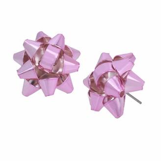 Betsey Johnson Festive Bow Button Earrings