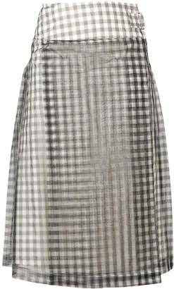 Comme Des Garçons Pre Owned gingham A-line skirt