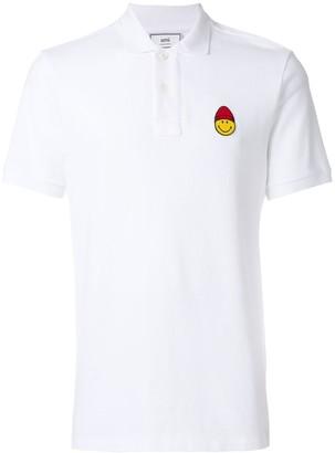 Ami Paris Polo Shirt Smiley Patch