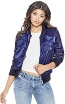 GUESS Women's Indigo Embroidered Bomber Jacket