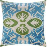 Les Ottomans - Velvet Cushion - 60x60cm - Blue/Green Decorative Pattern