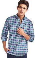Gap Oxford multi plaid slim fit shirt