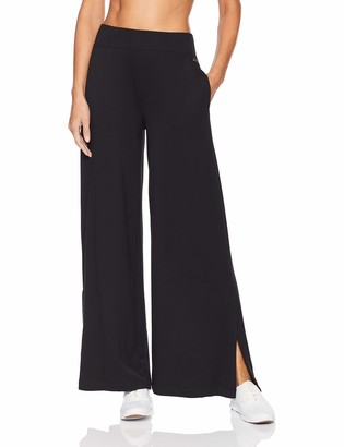 Betsey Johnson Women's Wide Leg Pant with Side Slits