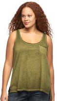 Rock & Republic Plus Size High-Low Tank