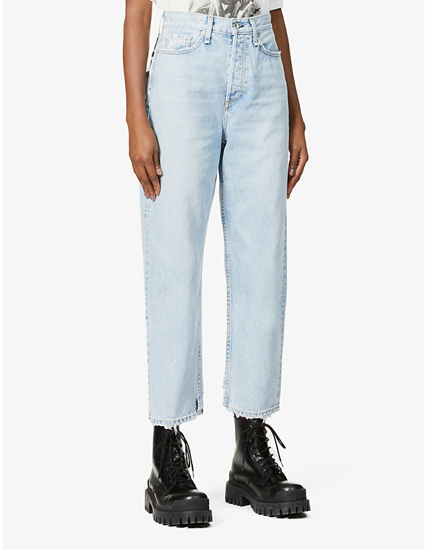 Thumbnail for your product : Rag & Bone 90s Tapered High-Rise Stretch-Denim Jeans