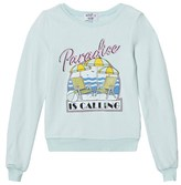 Wildfox Couture Mint Green Paradise Print Baggy Beach Jumper