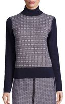 Tory Burch Sabino Jacquard Turtleneck Sweater