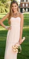 Camille La Vie Grain Ribbon Chiffon Strapless Evening Dress