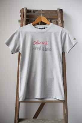 Bella Freud Solidarite Feminine Grey Crew Neck T Shirt - M