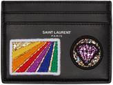 Saint Laurent Black Multi Patch Card Holder