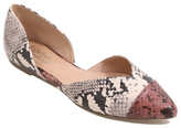 George Snake Print Pointed Ballet Shoes