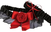 Hortense B. Hewitt Midnight Rose Wedding Collection Garter Set - Black