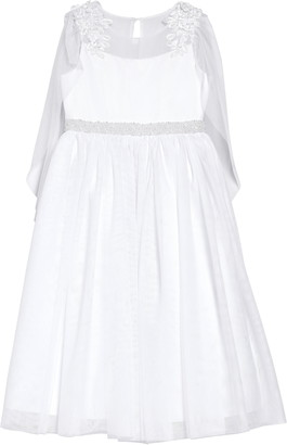 Iris & Ivy Illusion Lace Cape Sleeve First Communion Dress