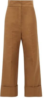 Lemaire Cotton-twill Wide-leg Trousers - Khaki