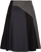 Derek Lam Flounce paneled wool-blend skirt